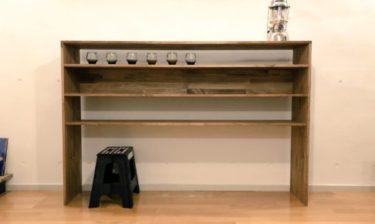 キッチンの食器棚をDIYしてみた。【DIY設計図あり】